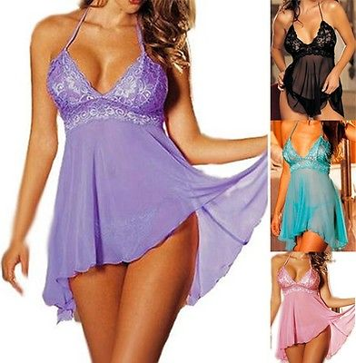 Sexy Plus Size Women Nightwear Sleepwear Babydoll Chemise Nightgowns Sleepshirts