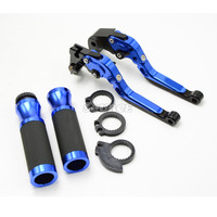Motorcycle Adjustable Folding Extendable Extending Brake Clutch Levers Handlebar Grips Ends For YAMAHA YZF R25 R15