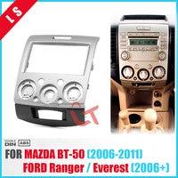 2DIN Radio Stereo Panel for Ford Everest Ranger Mazda BT 50 BT50 Double 2 Din Fascia Dash Installation Trim Kit Face Plate Bezel