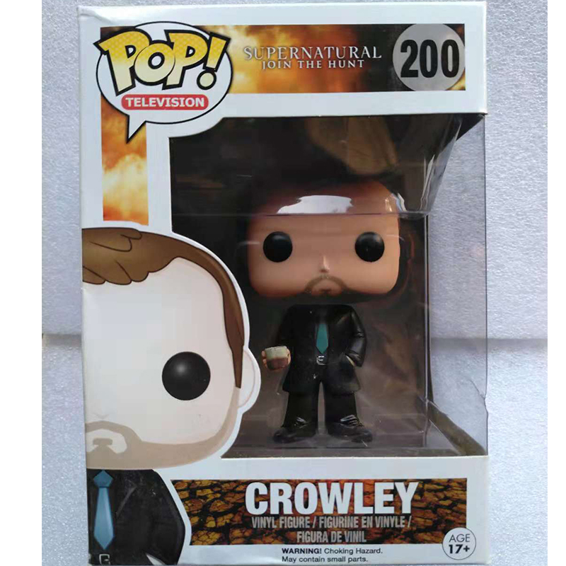 Official Funko pop TV: Supernatural - Crowley Vinyl Action Figure Collectible Model Toy with Original boxOfficial Funko pop TV: Supernatural - Crowley Vinyl Action Figure Collectible Model Toy with Original box