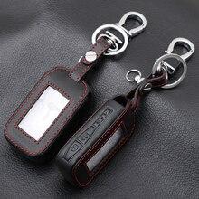 E60 E90 หนัง Key Fob สำหรับ StarLine E60 E90 E63 E93 E95 E66 E96 LCD รีโมทคอนโทรลพวงกุญแจเครื่องส่งสัญญาณ