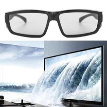 1Pc Passive 3D Glasses Black H4 Circular Polarized 3D Viewer Cinema Pub Sky Cinema