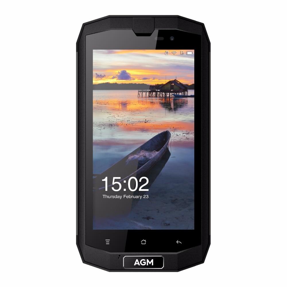 "AGM A1Q 4G Mobile Phone MSM8916 Quad Core 5.0"" 4GB RAM 64GB ROM Android 7.0 4050mAh OTG NFC 13.0 MP IP68 Waterproof SmartPhone"
