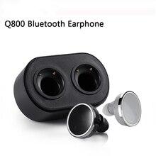 Q800 TWS Mini Wireless Twins Bluetooth V4.1 Stereo Earpods Twins True Wireless In-ear Earbuds Earphone with Charging Case Box