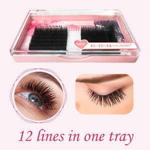 Image 4 - NAGARAKU Eyelashes Makeup Autofans Eyelash Easy Fanning  Lashes mega volume Fan Russian Volume Two tone Lashes Faux Cils