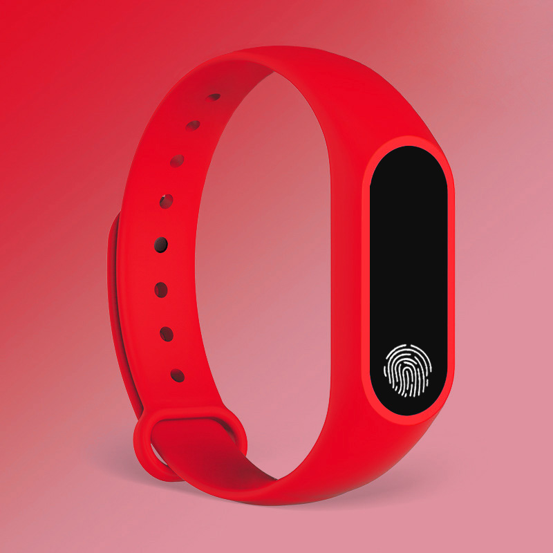 red finger print watch for men and women