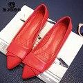 CBJSHO 2017 Señoras de los Holgazanes Pisos Zapatos de Tacón Cuadrado Punta estrecha Oxford Para Las Mujeres Marca Primavera Arco Zapatos de Diseño de Plataforma
