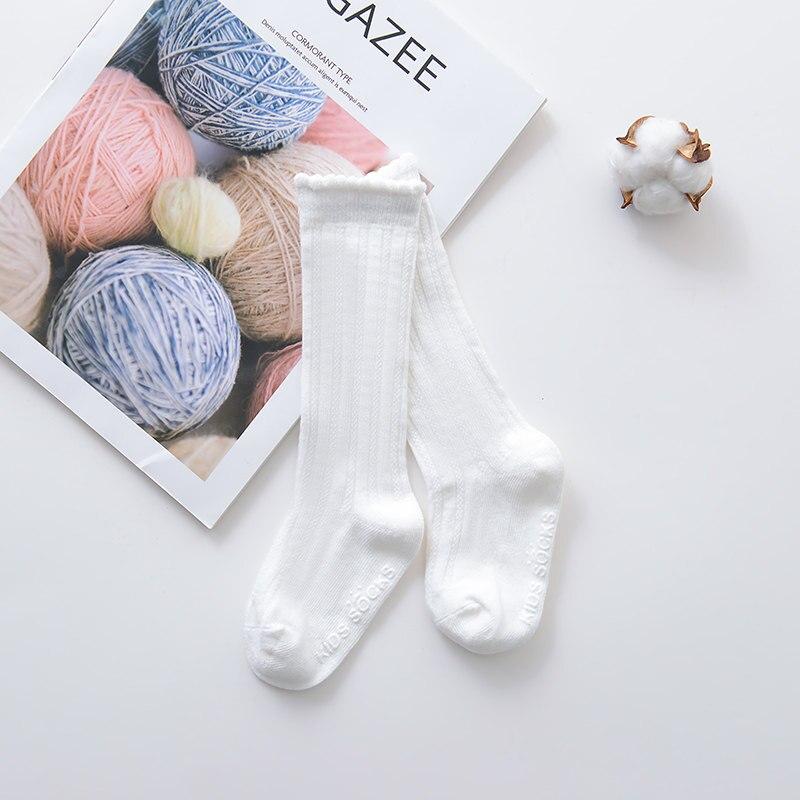 Новые детские носки гольфы с большим бантом для маленьких девочек, мягкие хлопковые кружевные детские носки kniekousen meisje, Прямая поставка#30 - Цвет: Bubble mouth white