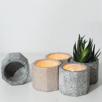 Ośmioboczna silikonowa betonowa doniczka formy świeca silikonowa uchwyt formy soczysty kwiat pot formy świecznik formy tanie i dobre opinie silicone P001
