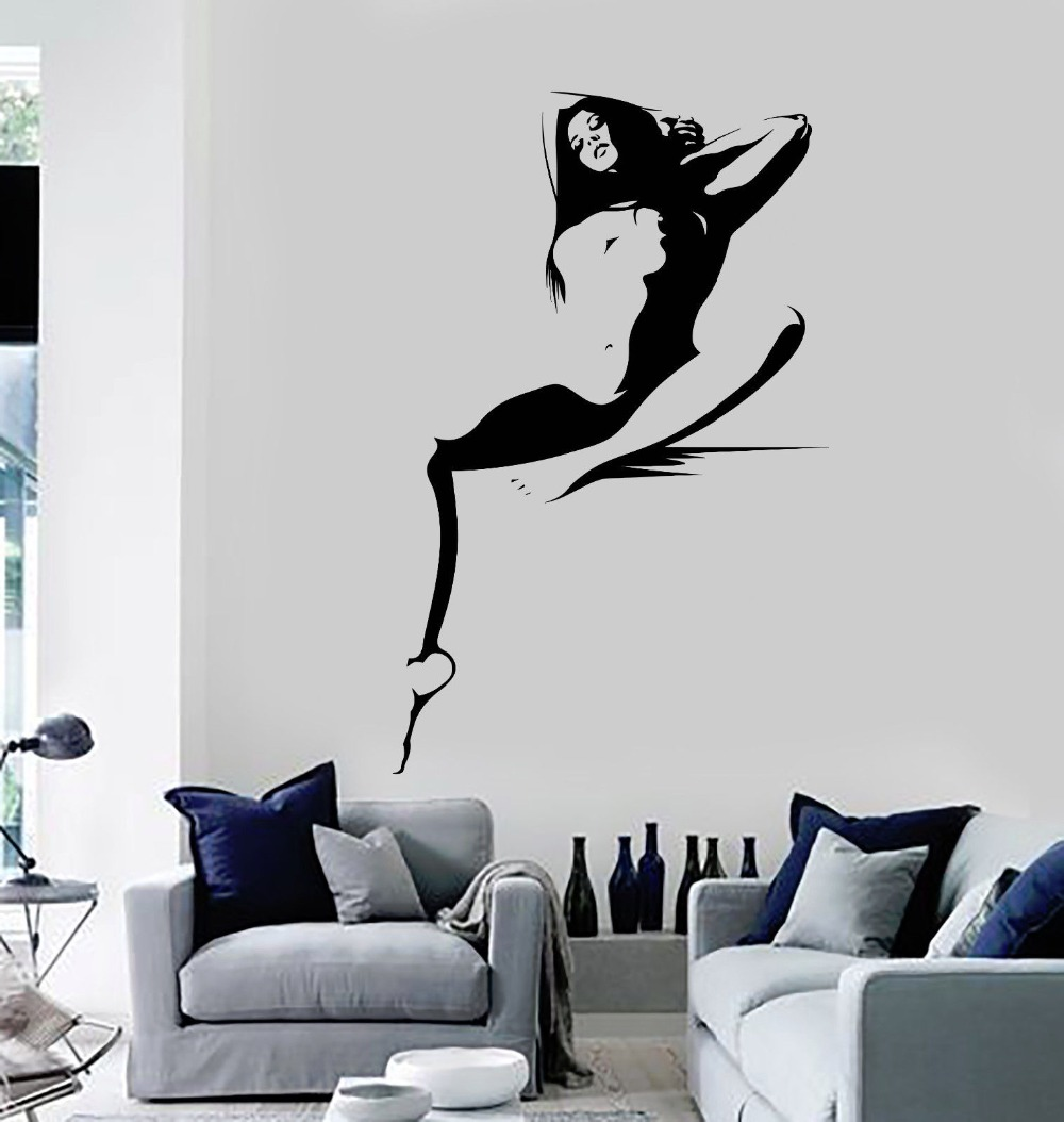 Vinyl Wall decal Hot Sexy Woman Naked Girl Adult Decor Stickers(China  (Mainland)