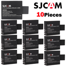 10pcs batteries wholesales SJCAM sj4000 battery sj7000 sj5000 sj6000 sj8000 SJ M10 bateria for SJCAM sj4000 sj5000 action camera sjcam sj5000 wi fi белый