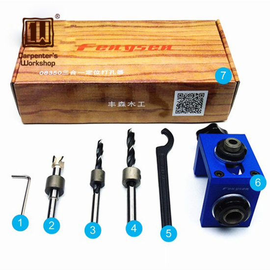 Woodworking Pocket Hole Jig kit With Toggle Clamp and Step Drilling Bit(Kreg Type) клещи ручные тиски kreg face clamp khc premium