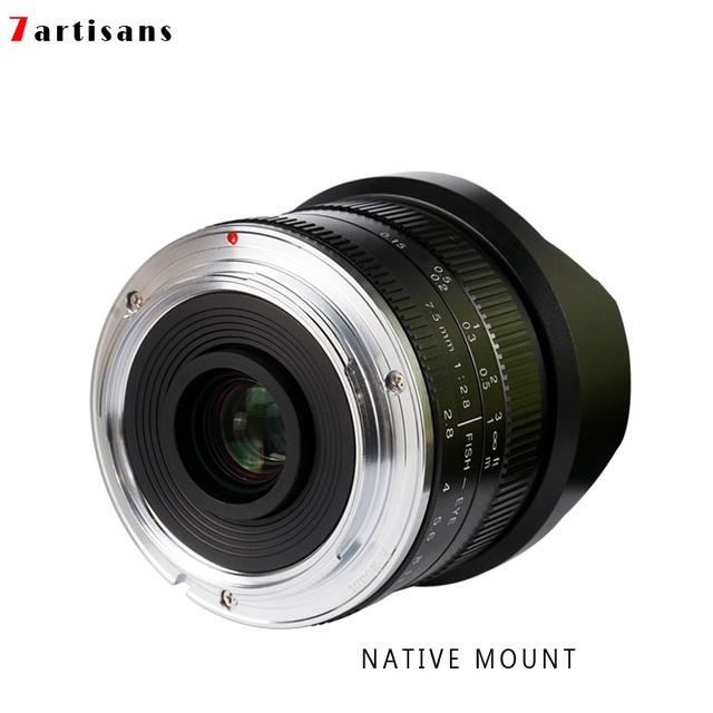 7artisans 7.5mm f2.8 fisheye lens 180 APS-C Manual Fixed Lens For E Mount Canon EOS-M Mount Fuji FX Mount Hot Sale Free Shipping
