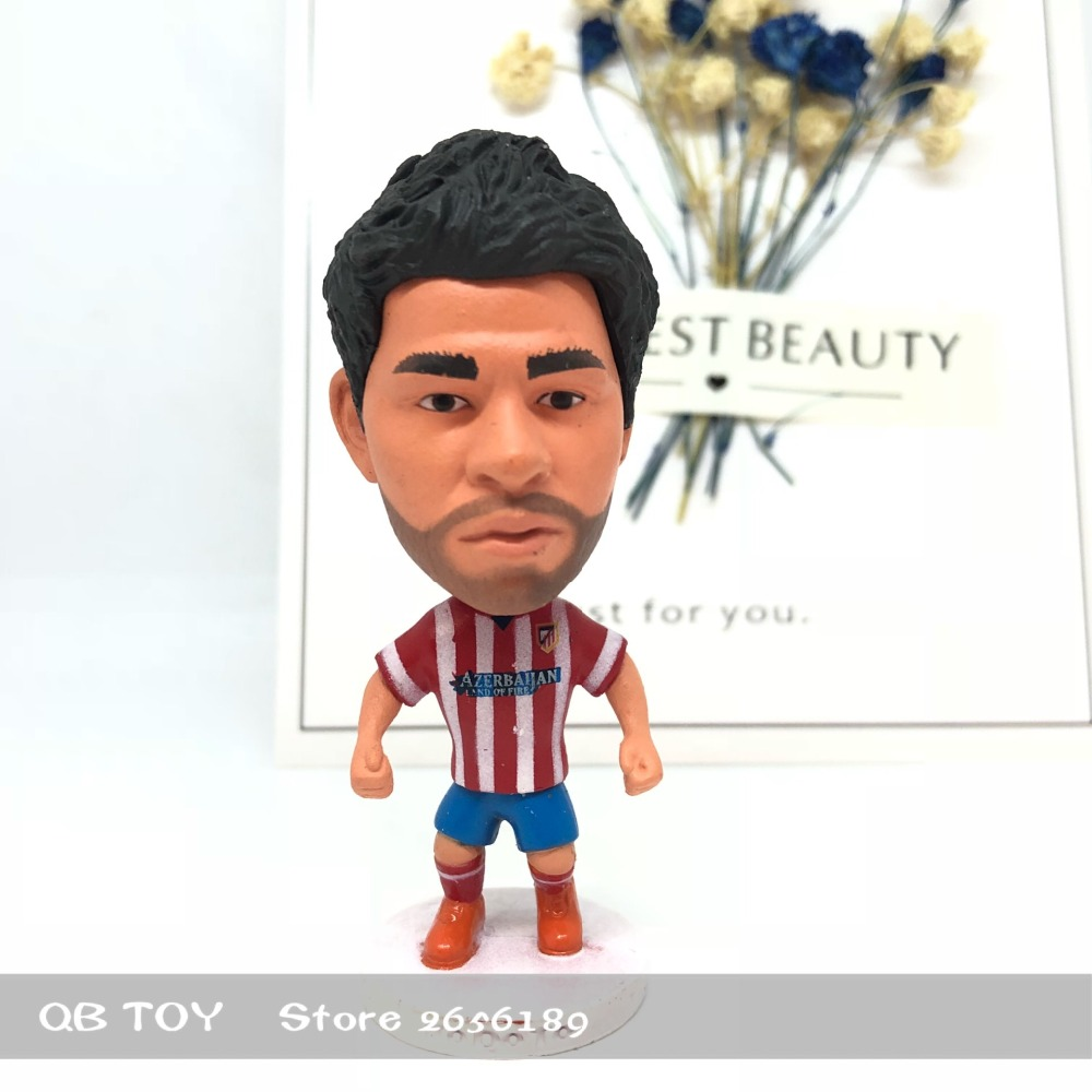 Soccer figure football stars Classic 19# Diego Costa Movable joints resin model toy action figure dolls collectiblegift