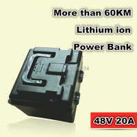 Baterías de bicicletas eléctricas 48 V 20AH batería recargable de iones de litio dinámica banco de energía 70 KM para herramientas eléctricas, EPS 3rd generación