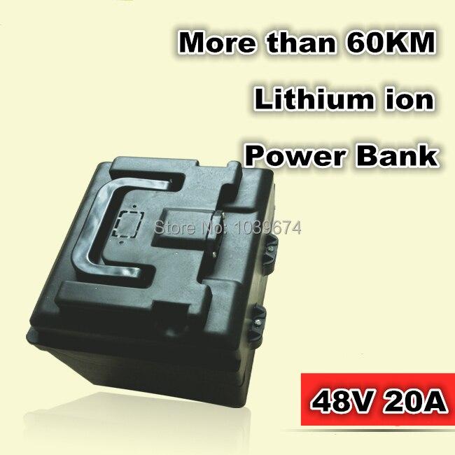 Vélos électriques Batteries 48 V 20AH dynamique Lithium ion batterie externe rechargeable 70 KM pour outils électriques, génération EPS 3rd