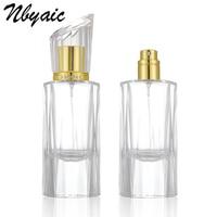Nbyaic 1 шт. 50 мл Высококачественная бутылка из хрустального стекла флакон-спрей с алмазной крышкой парфюмерный дозатор пустая бутылка