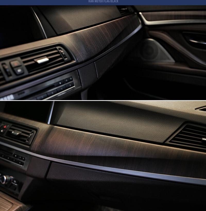 SUNICE 124CMx30CM PVC Wooden Grain Texture Film Car Furniture Wrap Vinyl Film Decor Vehicle Interior Sticker Decals Car Styling