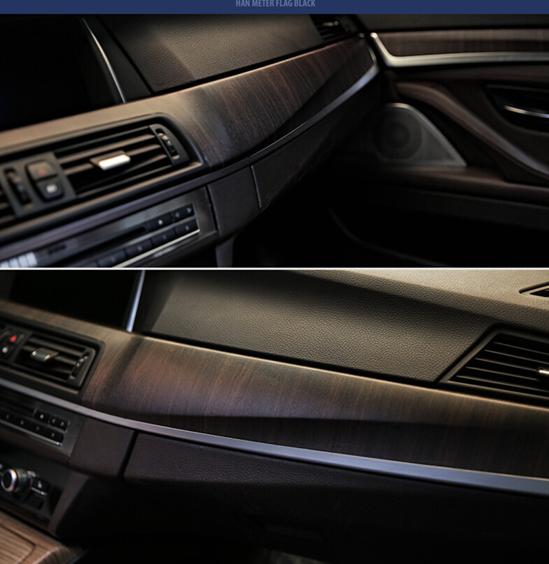 SUNICE 124CMx30CM PVC Wooden Grain Texture Film Car Furniture Wrap Vinyl Film Decor Vehicle Interior Sticker Decals Car Styling(China)