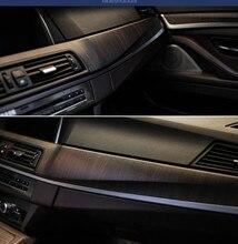 SUNICE película de PVC con textura de vetas de madera para muebles de coche, Interior de vehículo para decoración de película de vinilo, calcomanías para Estilismo de coche, 124CM x 30CM