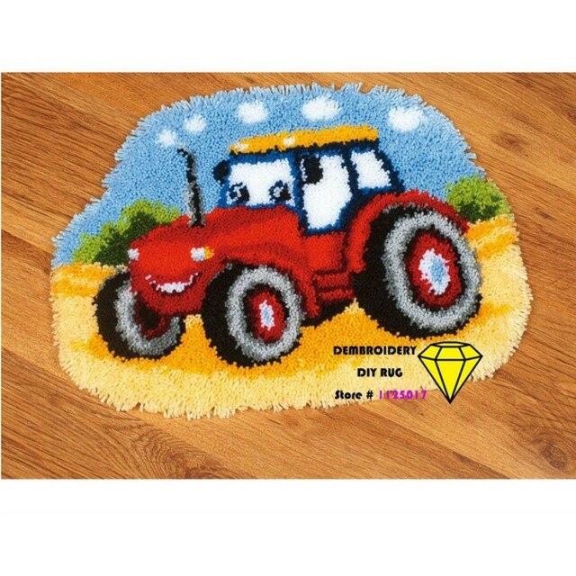Stickerei DIY teppich und teppiche traktor DIY Unfinished Häkeln ...