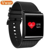 Vwar Colorful Screen Blood Pressure Oxygen Heart Rate Monitor Smart Bracelet Waterproof Bluetooth Smart Watch For