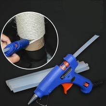 Силиконовый клеевой пистолет для приклеивания сизаля веревки на месте, DIY инструмент для кошачьих царапин продуктов, силикон, кабельные стяжки