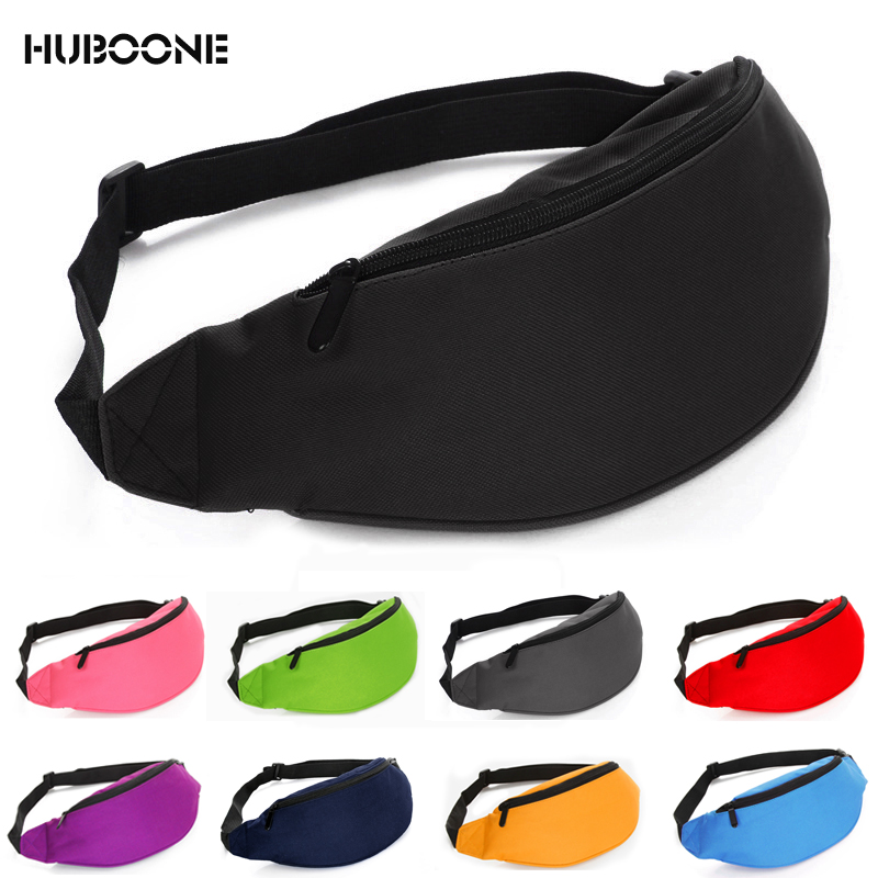 Classic Men Male Casual Waist Bag Fanny Pack Women Money Phone Belt Bag Pouch Banana Bum Bag Solid Waist Packs Bag Bolsa Cintura