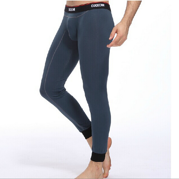 Free Shipping Men s Cotton Thermal Underwear Long John Striped Underpants Leggings Tights 7 Colors Size