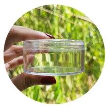 Boxi 20 sztuk/partia Slime Box szlam pojemnik plastikowe przezroczyste okrągłe schowek z pokrywkami dla puszyste jasne szlam zabawka