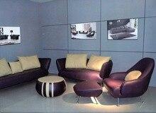 2015 nuevo estilo de cuero auténtico estilo europeo moderno de la sala de estar sofás sofá combinan sofá ( 1 + 2 + 3 sets )