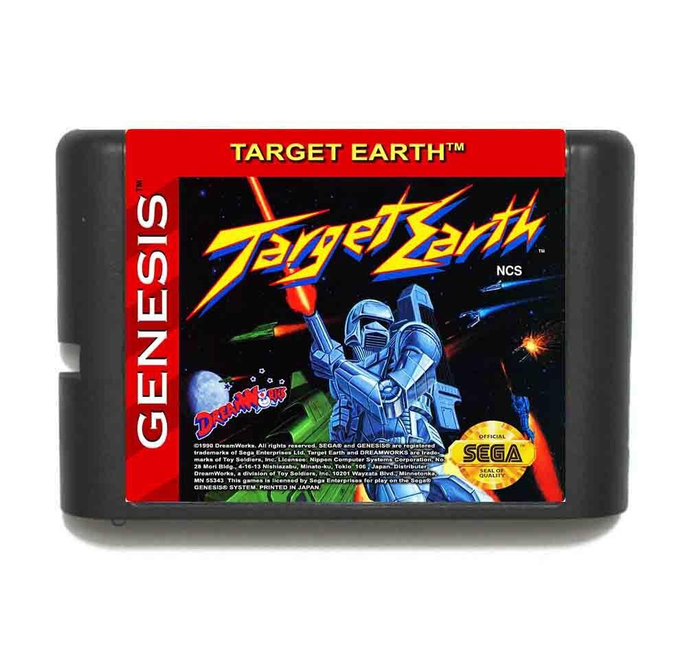 Target Earth 16 bit MD Game Card For Sega Mega Drive For Genesis