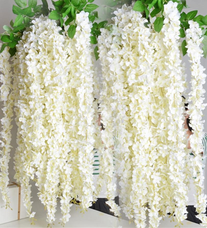 buy 1 6m artificial wisteria flower rattan flower vines garlands for wedding. Black Bedroom Furniture Sets. Home Design Ideas
