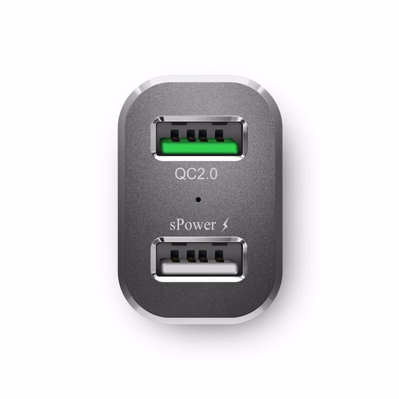 BlitzWolf BW-C6 30W טעינה מהירה QC2.0 מוסמך שתי יציאות USB מטען לרכב עבור הטלפון סמסונג עבור ה-iPhone טלפון חכם