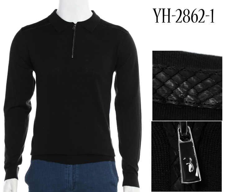 Multimillonario TACE y tiburón suéter de lana, piel de serpiente de los hombres 2018 nueva moda casual comodidad de alta calidad Caballero M-4XL envío gratis