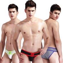 New WJ men's briefs Low waist sexy underwear U convex breath