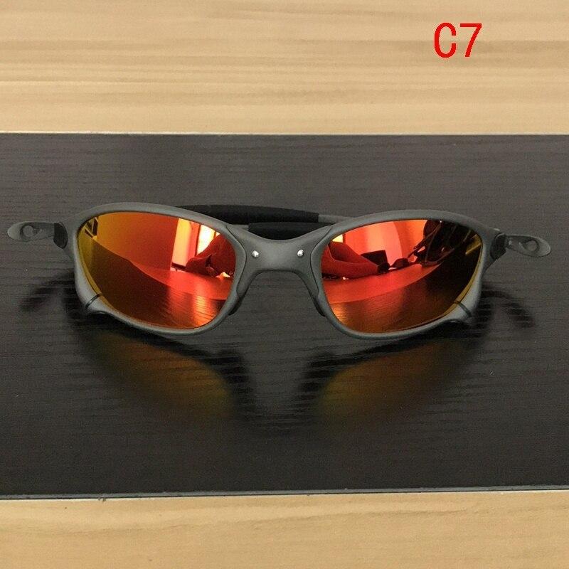 X-Metal Juliet Cyclops Sunglasses Ruby Polarized Lenses titanium Goggles 6 Color