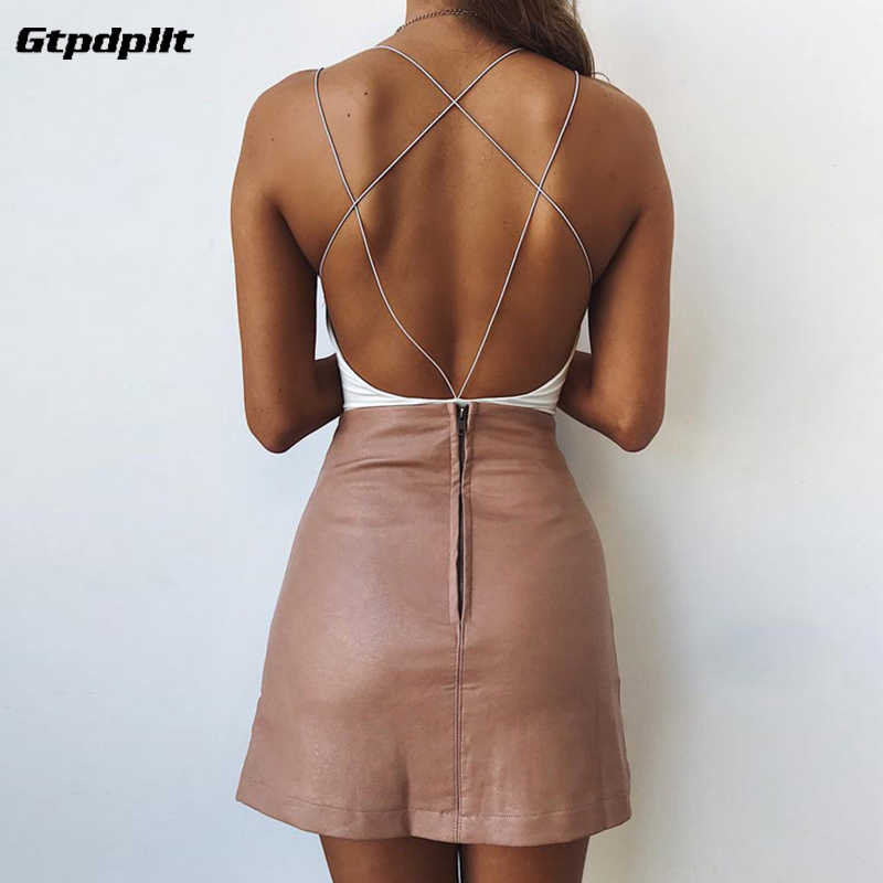 Gtpdpllt Sexy Zomer Bodysuit Wit Backless Bodycon Body Feminino Overalls Party Rompertjes Womens Jumpsuit Combinaison Femme