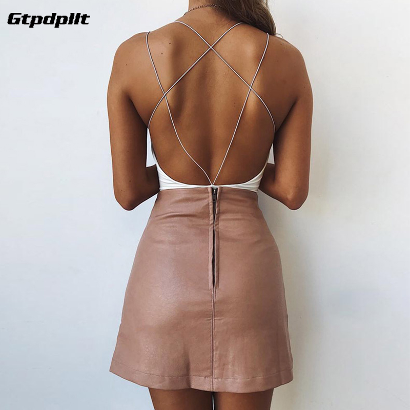 Gtpdpllt Sexy Summer Bodysuit White Backless Bodycon body feminino Overalls Party Rompers Womens   Jumpsuit   combinaison femme