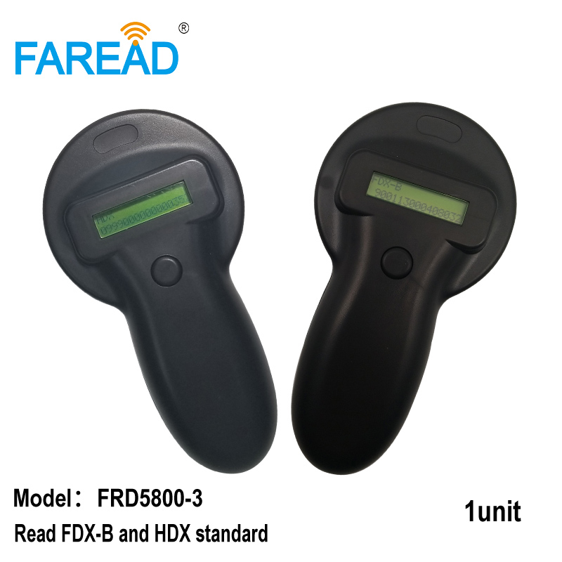 Free Shipping 134.2KHz ISO11784/785 Microchip Scanner HDX And FDX-B Animal RFID Handheld Portable EID Electronic Ear Tag Reader