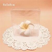 8*5*8 cm PVC Transparente Caixas de Presente Do Favor Do Casamento Doces Embalagem Caixa de Lembrança Caixas de Embalagem Transparente Para jóias