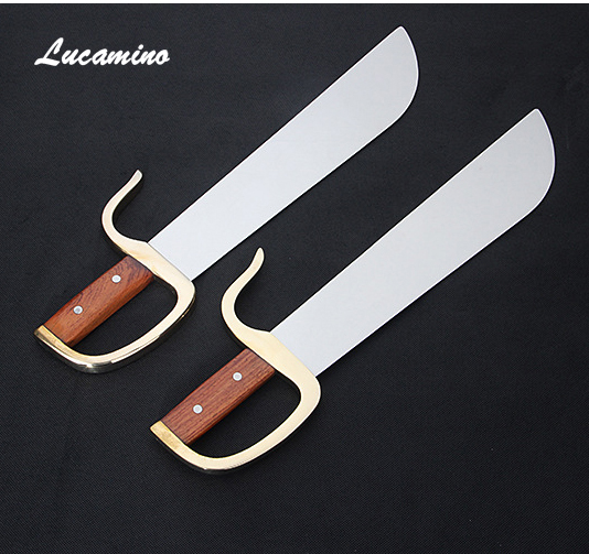 No edge eight cutter double knives Wing Chun butterfly sword Yongchun performing martial arts knife, wooden copper handle new arrival wing chun butterfly knives bart cham dao wing chun swords with free shipping butterfly carving on handle with bag