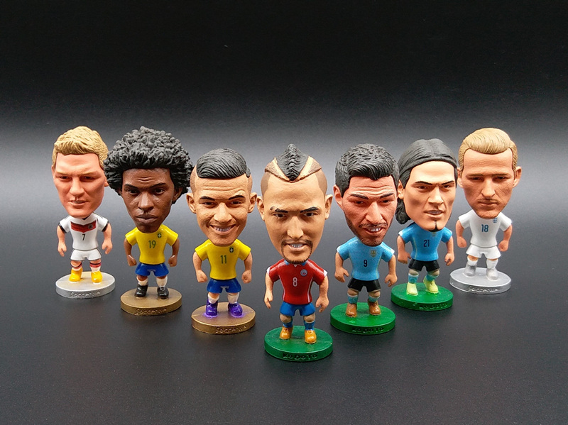 Soccerwe World Cup Super Soccer Star Lovely Action Figure Model Toys Football Dolls Gift Messi Vidal Suarez Coutinho Totti   muñeco buffon