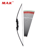 Archery Bow 30/40lbs Recurve Bow with 12pcs Carbon Arrowss Shooting Hunting Game Outdoor Sports