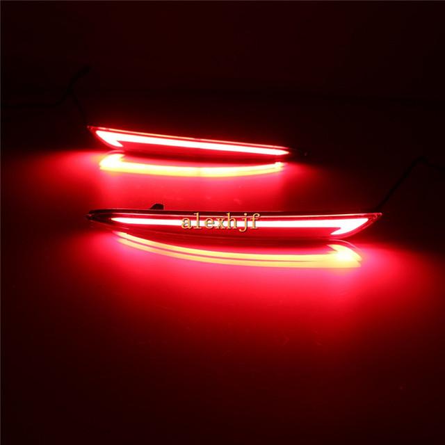 Julho Rei LEVOU Guia de Luz Luzes de Freio + Noite de Condução + Sinais de Volta Caso para Ford Mondeo Fusão 2013 +, Luz de Aviso de segurança