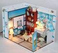 Frete grátis DIY modelo de montagem de casa / Doraemon Nobita de Mini brinquedo de madeira em miniatura casa de bonecas para crianças de presente