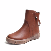 Buy Women's boots 2018 new autumn and winter retro double zipper boots warm tube Martin boots anti-skid platform soft PU shoes directly from merchant!