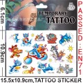 New Design Tattoo Tom And Jerry Cartoon Temporary Tattoos Sticker for Kids Birthday Party Decoration Supplies