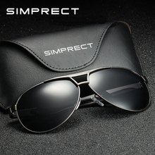 SIMPRECT 2019 Polarized Sunglasses Men UV400 Pilot Retro Sun