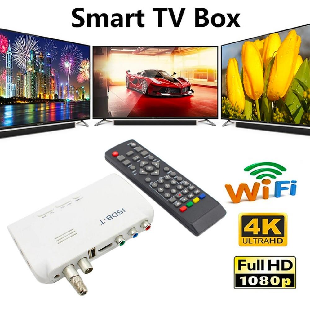 ISDB-T Ground Digital Adapter Satellite TV Receiver 1080P ISDB-C HDMI Digital TV Tuner Receptor Wifi Satellite Signal Amplifier